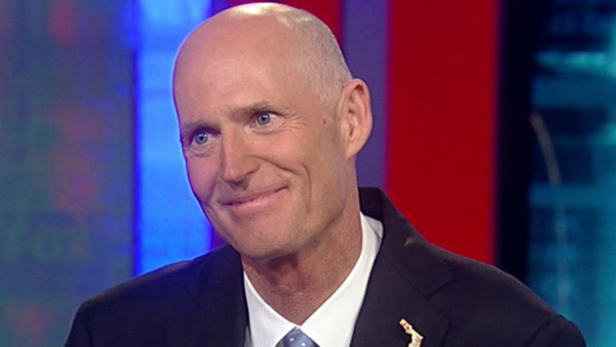 Florida Governor on Zimmerman trial, National Guard furloughs