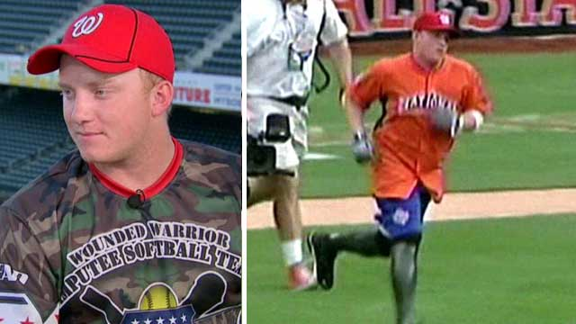 Wounded warrior takes MVP title at All-Star softball game