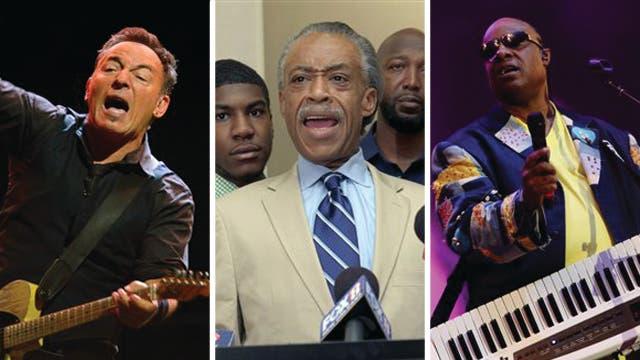Sharpton, Stevie & Springsteen react to Trayvon
