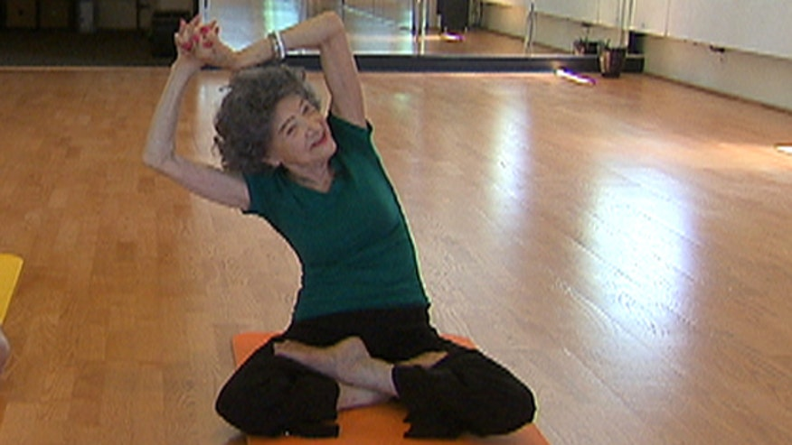 "Meet a 94-year-old yoga instructor whose motto is ""nothing's impossible.""  Not only does she teach yoga classes but she also performs in dance competitions.  The Medicine Hunter, Chris Kilham, chats with her and learns some yoga moves"