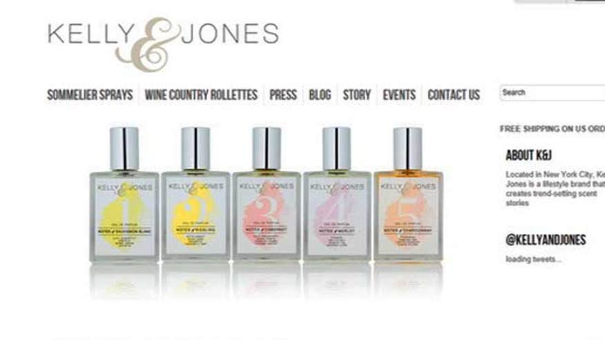Kelly Jones created a line of fragrance that captures the essence of all your favorite wines. So now the delicate nuances in cabernet, merlot, riesling, chardonnay, and sauvignon blanc can be enjoyed all day long.