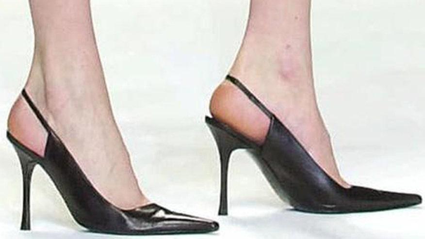Career women take tips on walking in heels