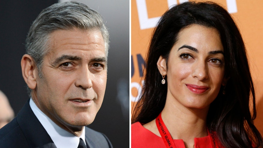 George Clooney says he's marrying up