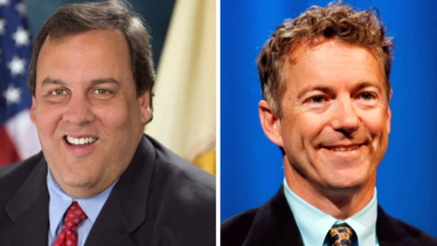 Battle for 2016 GOP nomination heats up between Chris Christie, Rand Paul