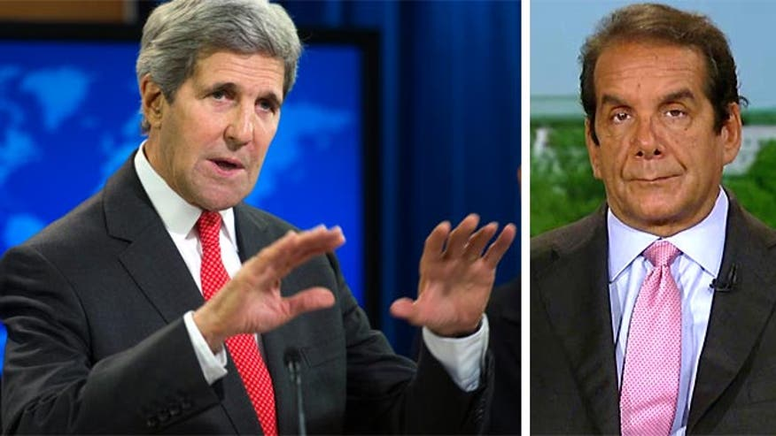 Fox News Contributor Charles Krauthammer accused Secretary of State John Kerry Monday of meddling in the Israeli-Gaza conflict by showing up uninvited to the latest ceasefire negotiations.