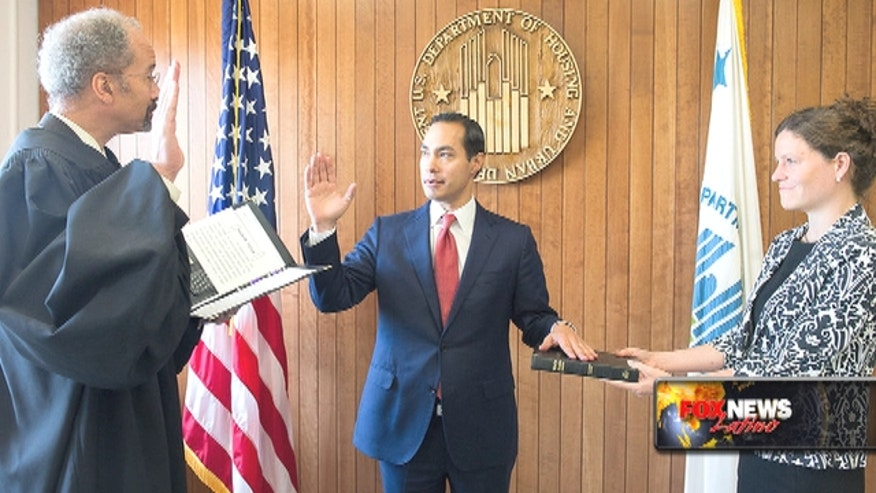 Former San Antonio Mayor Julian Castro has been sworn in as head of the Department of Housing and Urban Development.