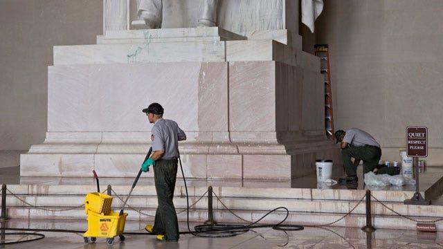 Suspect in custody over DC monument defacing