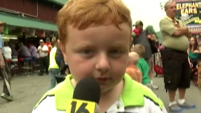 'Apparently' adorable: Little boy a hit in TV news interview