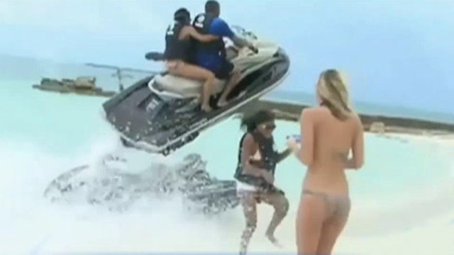 Jet ski scare: Woman narrowly escapes getting crushed