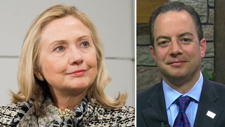 Reince Priebus fires back over Hillary Clinton features