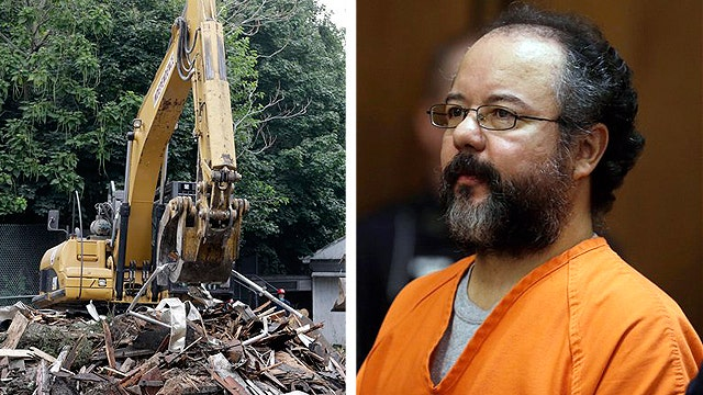 Ariel Castro's house of horrors torn down