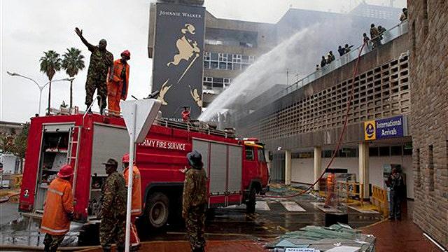 Fire roars through Kenya's main airport