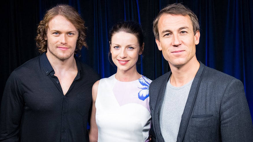 Sam Heughan, Caitriona Balfe, and Tobias Menzies on their new hit Starz series.