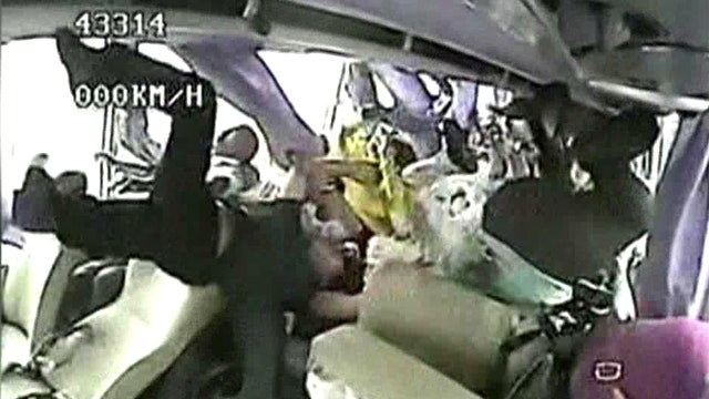 Horrifying video inside bus during deadly crash