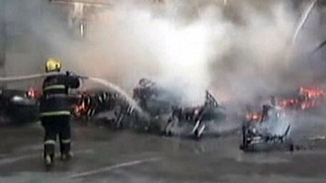 Nearly 100 new motorcycles go up in flames in China