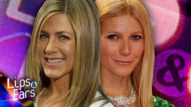 Aniston and Paltrow: strip and tease