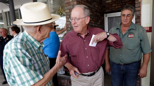 Sen. Lamar Alexander reacts to big Tennessee primary win