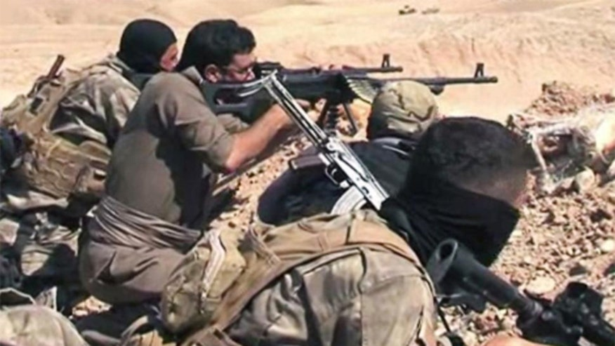Kurdish fighters on the offensive against ISIS