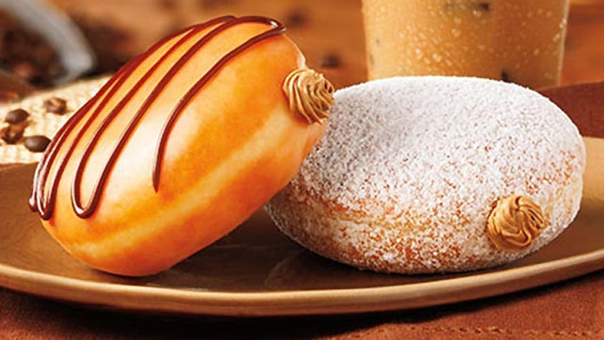 Dunkin Donuts celebrates National Coffee Month with coffee-flavored donuts.