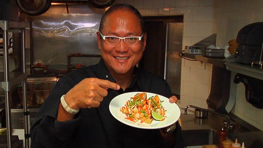 Chef Masaharu Morimoto teaches how to make the perfect summer side dish: Shrimp Tempura Nachos