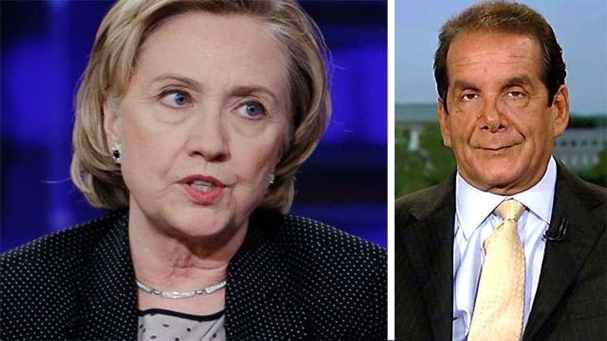 Krauthammer on Hillary Clinton
