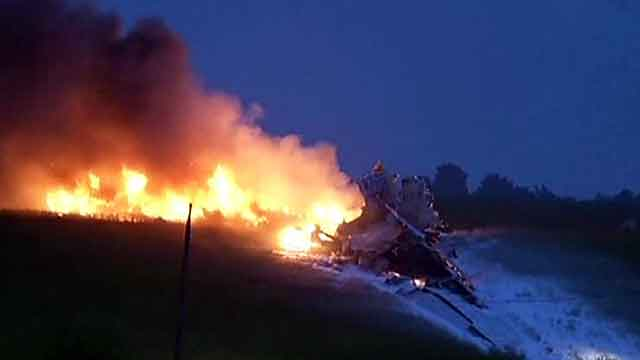 'Sonic boom' heard as UPS cargo plane goes down in flames