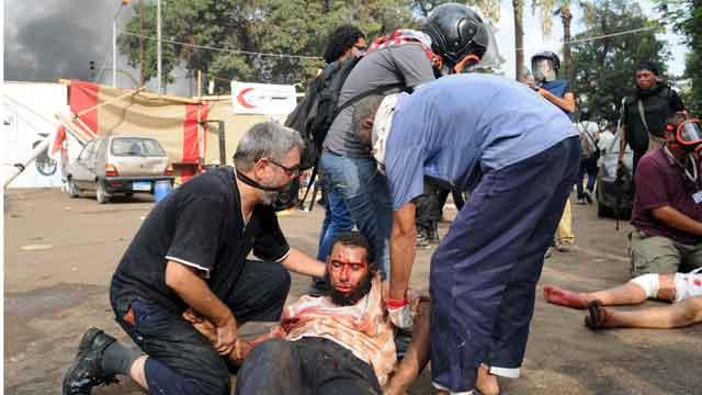Report: Egyptian forces storm pro-Morsi camps, dozens dead