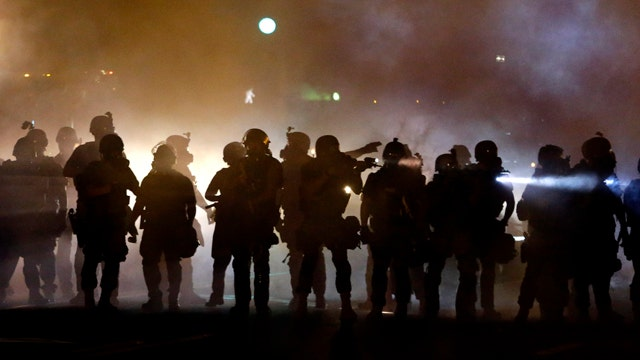 Fifth night of clashes between cops, protesters in Ferguson