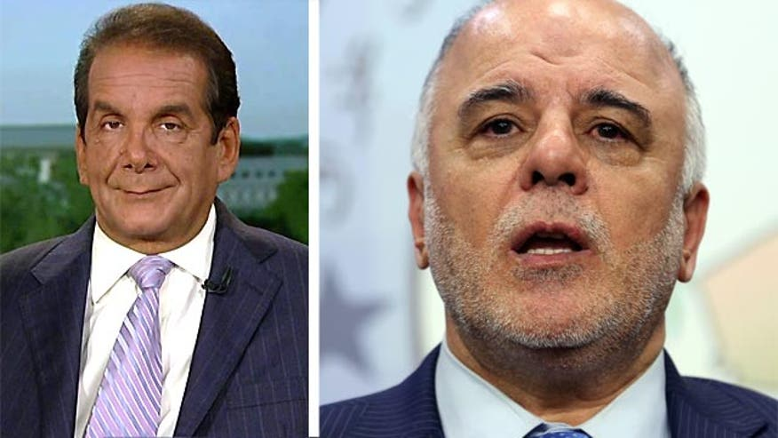"Charles Krauthammer told viewers Thursday on ""Special Report with Bret Baier"" that with embattled Iraqi prime minister Nouri al-Maliki finally stepping aside, the president's ""bluff is called"" in Iraq."