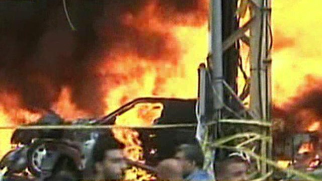 Strong explosion rocks Hezbollah stronghold in Beirut suburb