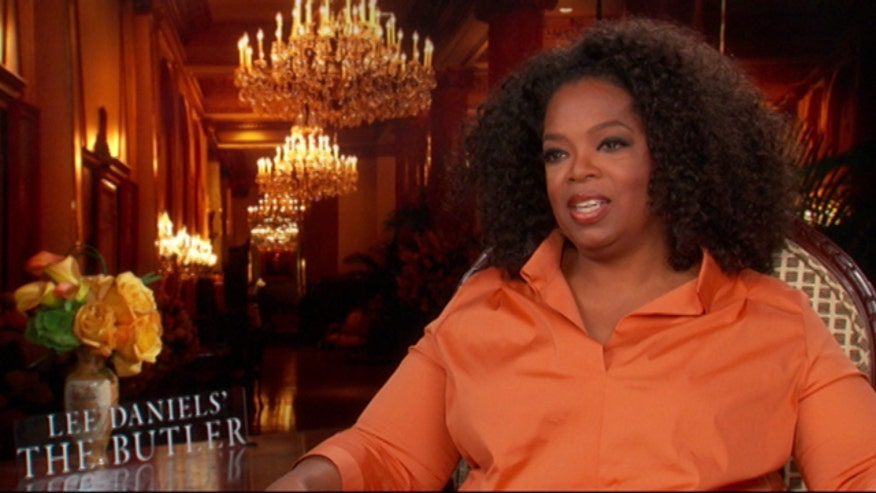 "Oprah Winfrey talks about her role in Lee Daniels' ""The Butler"" while Michael Tammero compliments her on her acting abilities. (""That's saying something. That really is,"" she remarks.)"