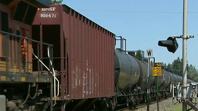 Environmental activists locked in battle over oil trains