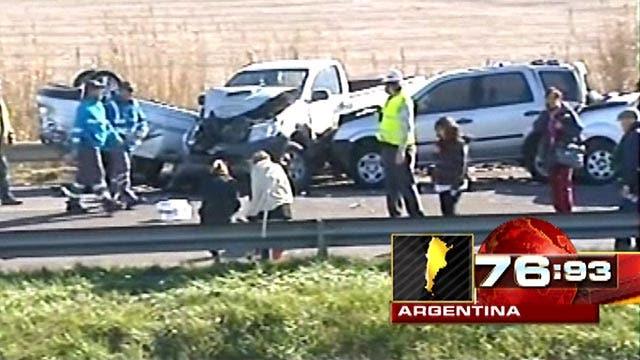 Major car pileup kills at least two in Argentina