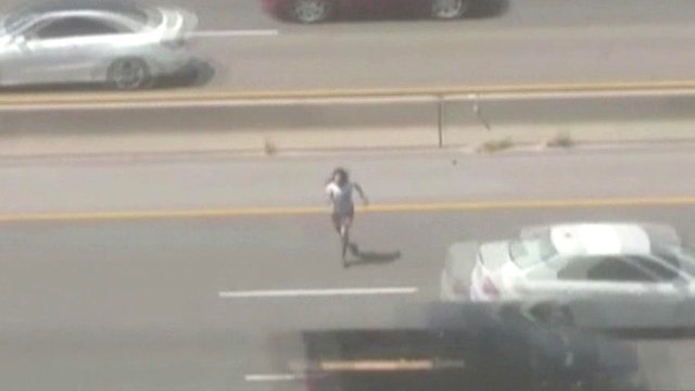 'Frogger' fan? Police chase suspect across highway