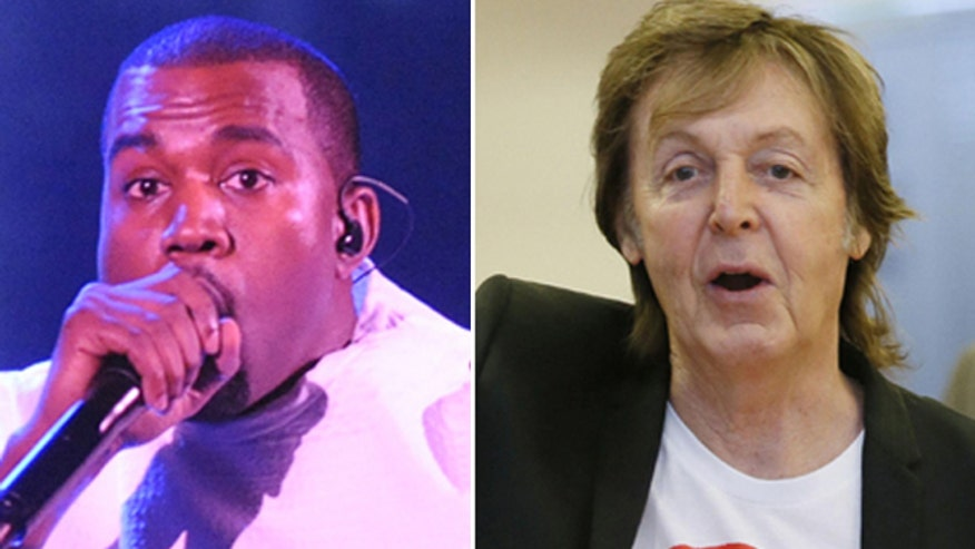 Is Kanye West recording tracks with Sir Paul McCartney?
