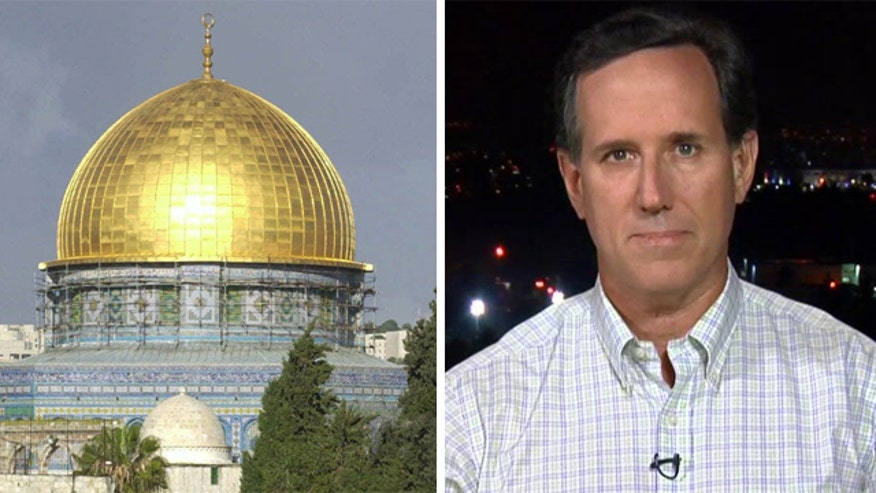 Former presidential candidate speaks out from Jerusalem