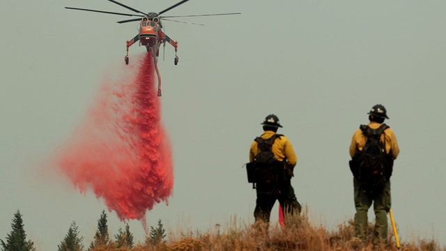 New fears over dry conditions as fires burn in 10 states