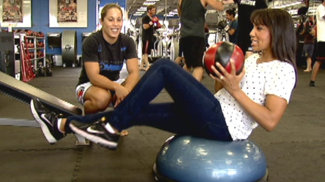 Working out with UFC fighter Liz Carmouche