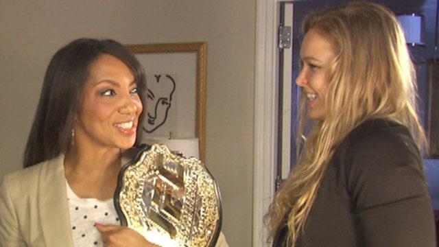 UFC Bantamweight champ Ronda Rousey's belt a perfect fit