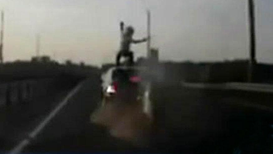 Dashcam captures amazing accident in Europe