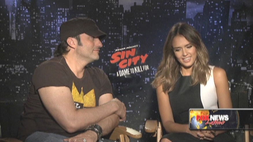 "Jessica Alba and Robert Rodriguez talk about coming together for a new ""Sin City"" movie."