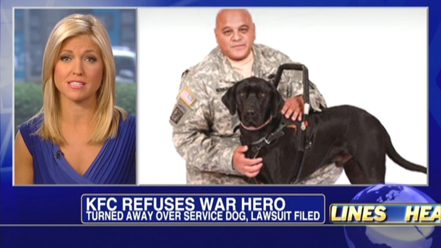Veteran is turned away over service dog, lawsuit filed