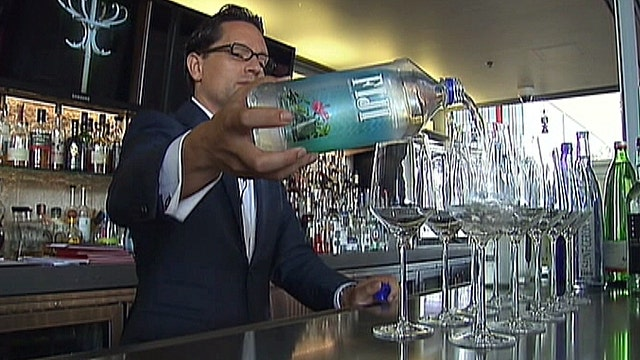 High-end bottled water makes a splash in eateries