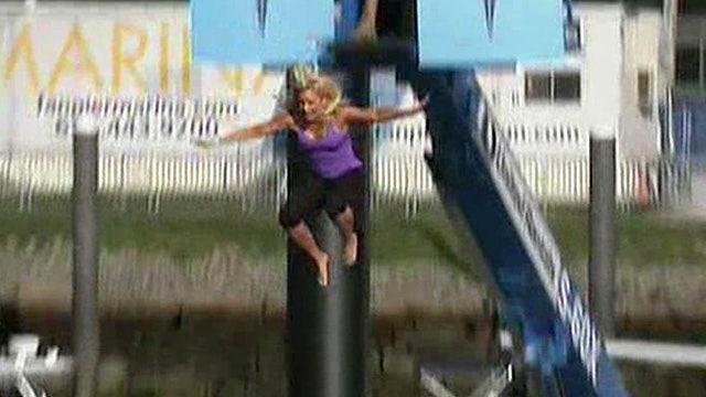 Anna Kooiman takes the plunge into Boston Harbor