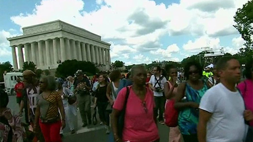 Thousands gather to commemorate the 50th anniversary of the March on Washington