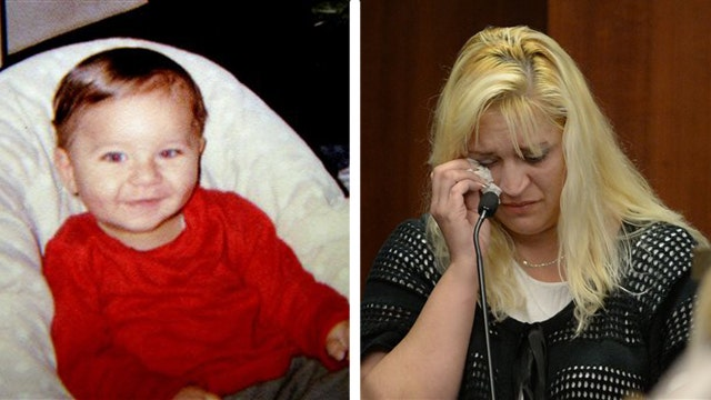 Mother of baby slain in stroller gives tearful testimony