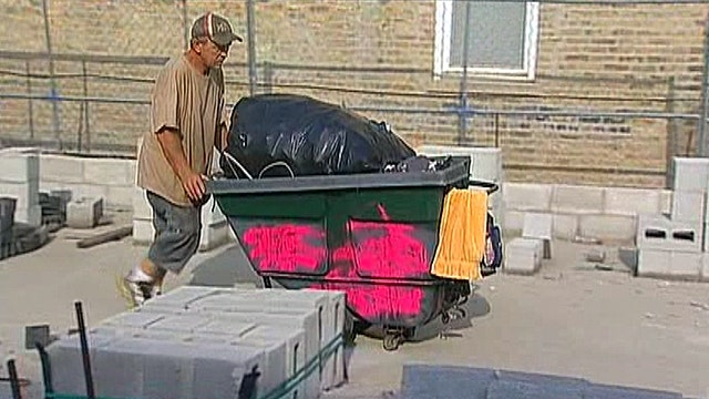 Homeless man builds home