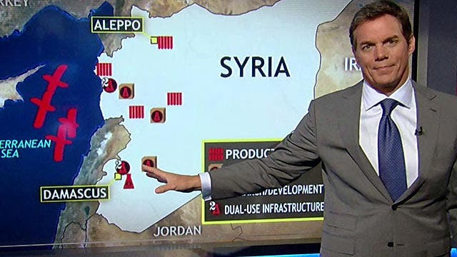 Possible plan of attack should US strike Syria