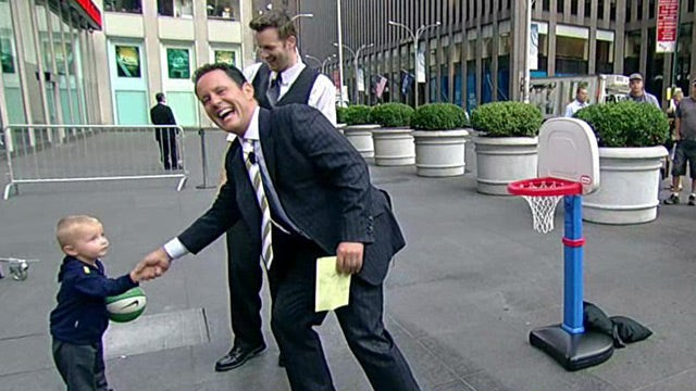 Trick shot toddler gets rematch with Kilmeade