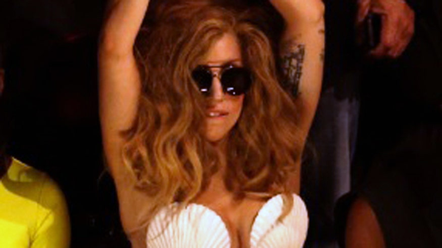 Lady Gaga can't seem to stay clothed. Plus, revenge porn laws and the Valentino diet.